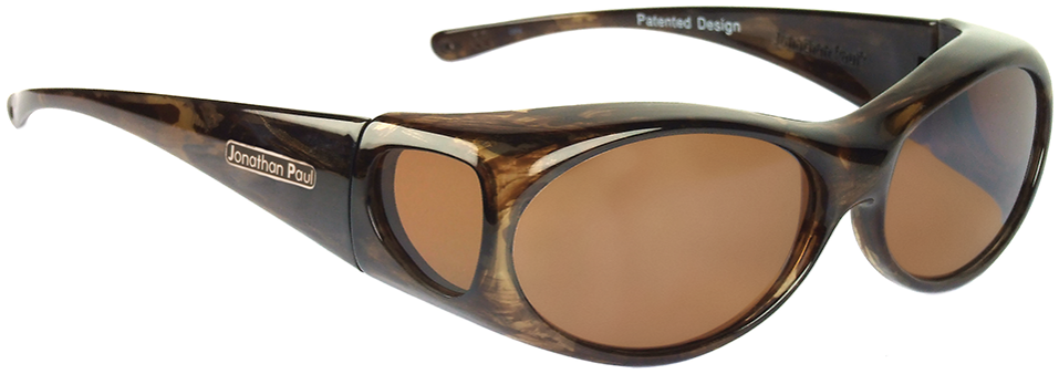 Jpe: Aurora Brown Marble Gold Polarvue Amber
