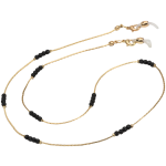 Vogue Fashion Holder/Necklace, Black Bead