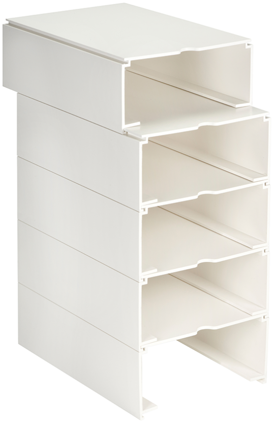Empty Modular Rx Tray Box, Set of 5 (White)