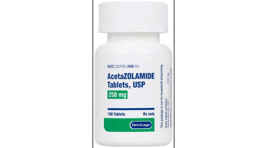 Acetazolamide 250Mg Tab 100Ct Ndc 23155-268-01
