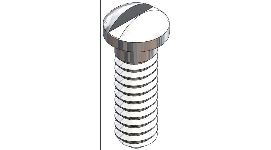 Nose Pad Screw, Silver, 125 Pcs. (slot)