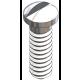 Nose Pad Screw, Silver, 25 Pcs. (slot)
