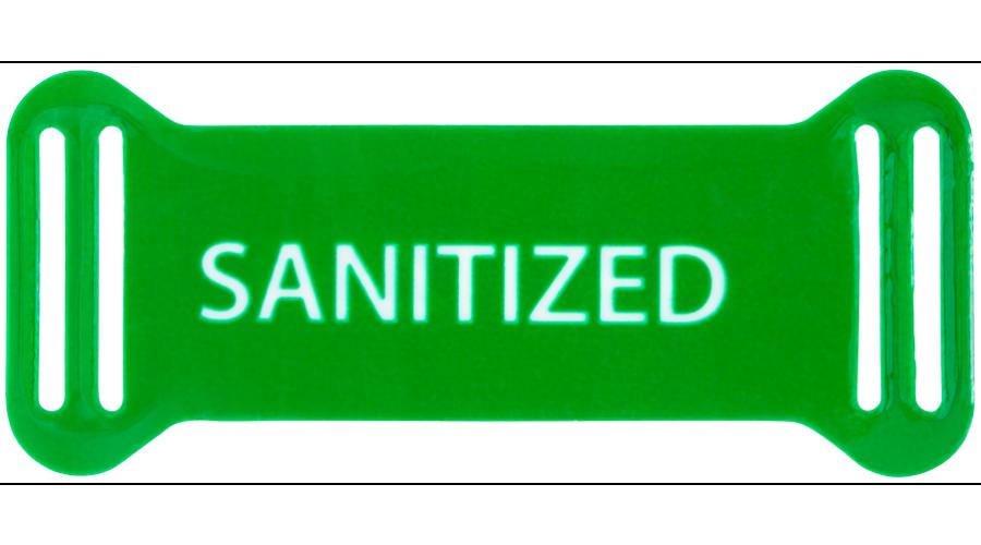 Sanitized: Reusable Frame Tags Green /500Ea