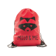 Milo & Me Drawstring Backpack, Red