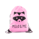 Milo & Me Drawstring Backpack, Pink