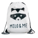 Milo & Me Drawstring Backpack, White