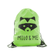 Milo & Me Drawstring Backpack, Lime Green