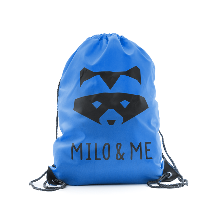 Milo & Me Drawstring Backpack, Royal Blue