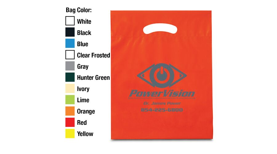 """12"""" X 16"""" X 3"""" Personalized Oxo Degradable Supply Bags"""
