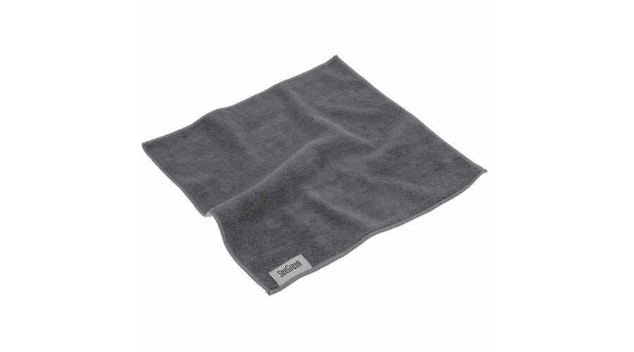12X12 Anti-Microbial Terry Towel 12 Pack Light Grey