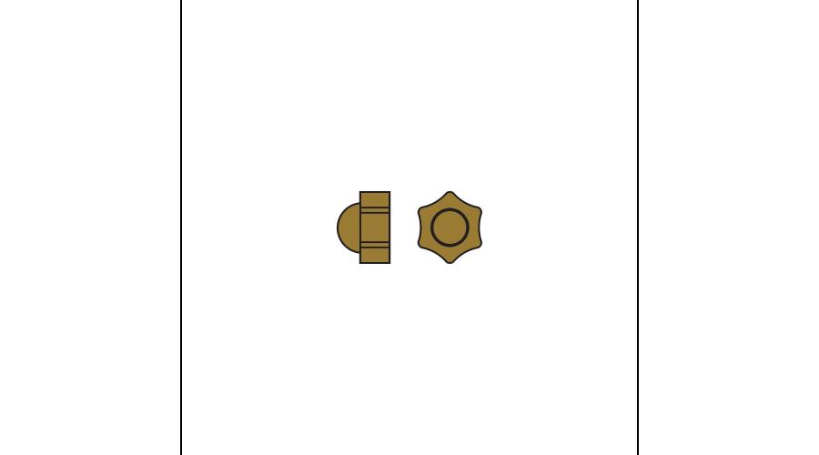 1.4MM CAP NUT GOLD - 25