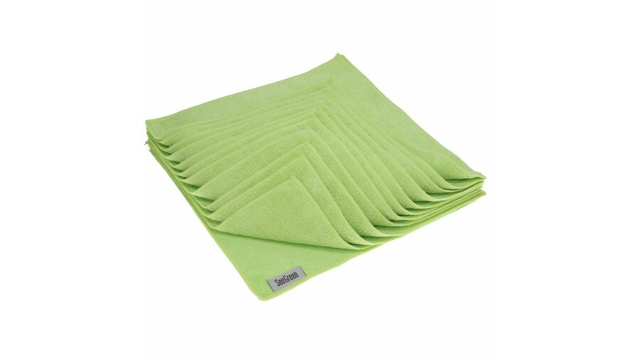 16X16 Anti-Microbial Terry Towel 12 Pack Green