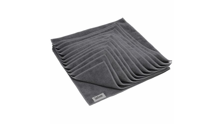 16X16 Anti-Microbial Terry Towel 12 Pack Light Grey