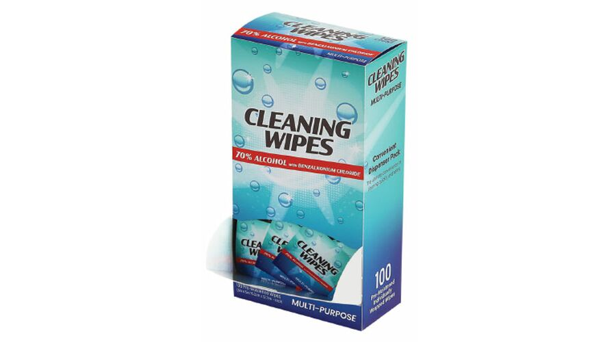 70% Alcohol Cleaning Wipes 100Ct
