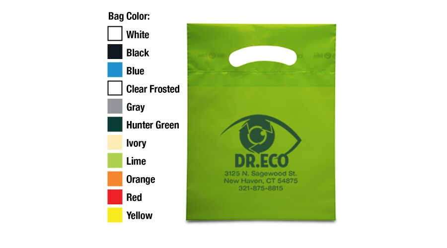 """7.5"""" X 10"""" Personalized Oxo Degradable Supply Bags"""