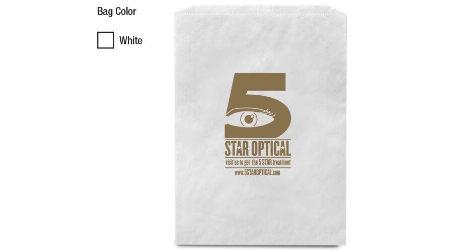 """8.5"""" x 11"""" WHITE MERCHADISE BAG"""