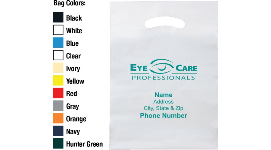 """9"""" X 13"""" EYE CARE PROFESSIONALS PLASTIC BAG WITH PERSONALIZE"""