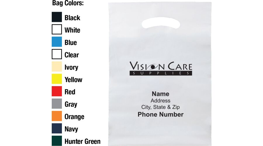 """9"""" X 13"""" VISION CARE SUPPLIES PLASTIC BAG WITH PERSONALIZED"""