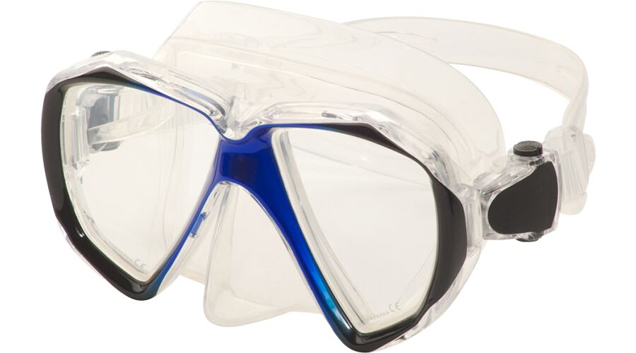 ADULT DIVE MASK SPHERICAL RX BLUE PLANO