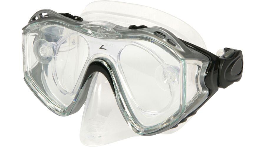 ADULT XRX DIVE MASK SILVER W/RX ADAPTER