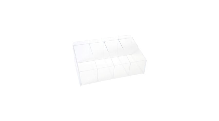 BIN WITH REMOVABLE DIVIDERS, CLEAR
