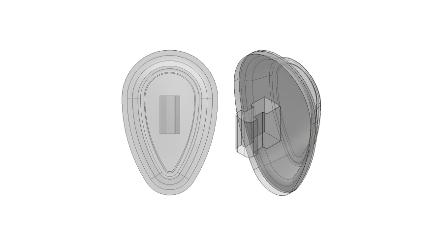 BIOFEEL NOSEPADS 13MM PUSH-ON 5PRS