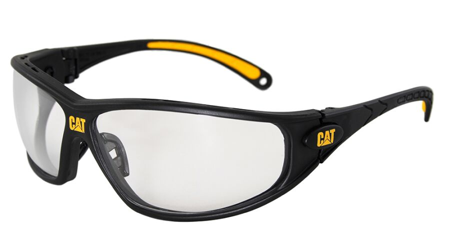 CAT PLANO TREAD-100 BLACK WITH CLEAR LENS