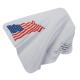 CLOTH: CL 7X7 WHITE W/FLAG, IMP BAG/100