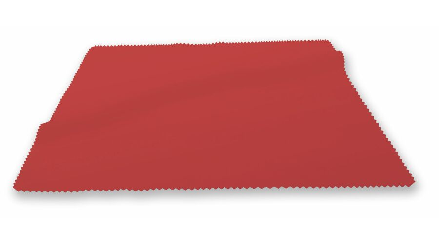 "CLOTH: SILKY MICROFIBER 6""X6"" RED STOCK"