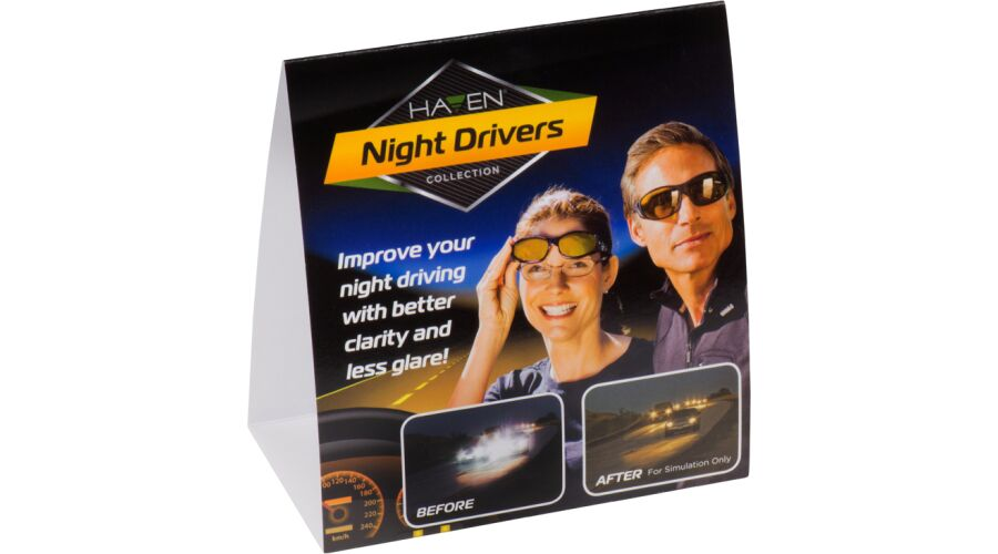 """COUNTER CARD: NIGHT DRIVER 5.5"""" x 5"""" DOUBLE-SIDED"""