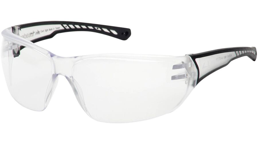 COURT SIGHT PLANO EYEGUARD WITH CLEAR AF LENS, CLEAR/BLACK T