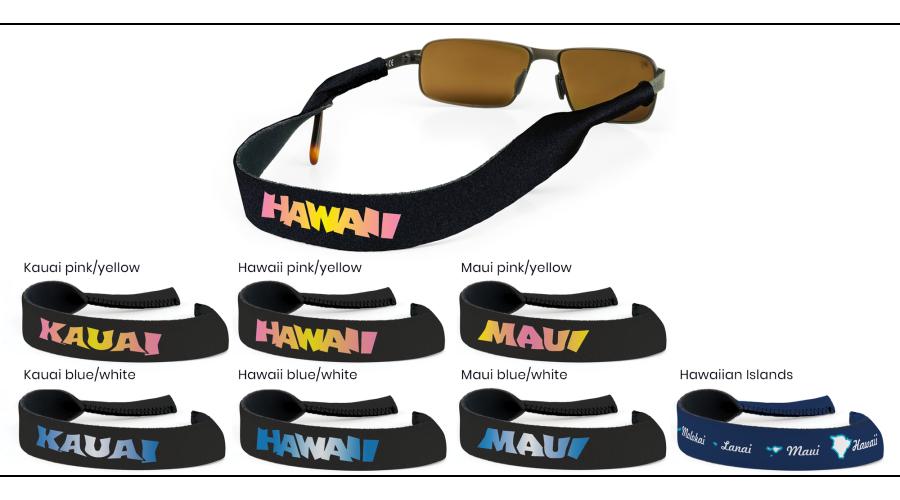 CROAKIES: XL HAWAIIAN ISLAND PRINT NAVY