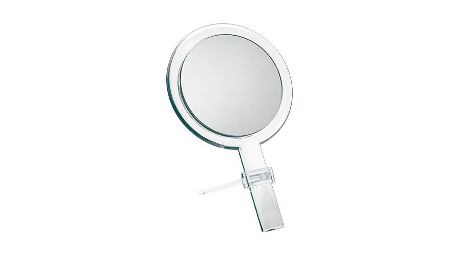 CRYSTAL HAND MIRROR W/STAND