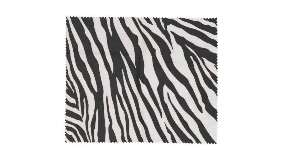 Cloth: Designer Black Zebra 6 X 7 Stock