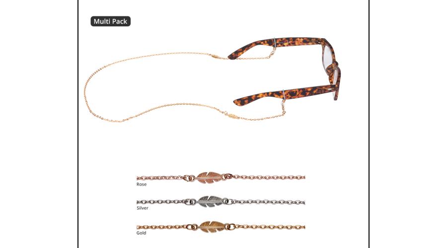 Croakies: Fashion Chain Mix Leaf Spec End