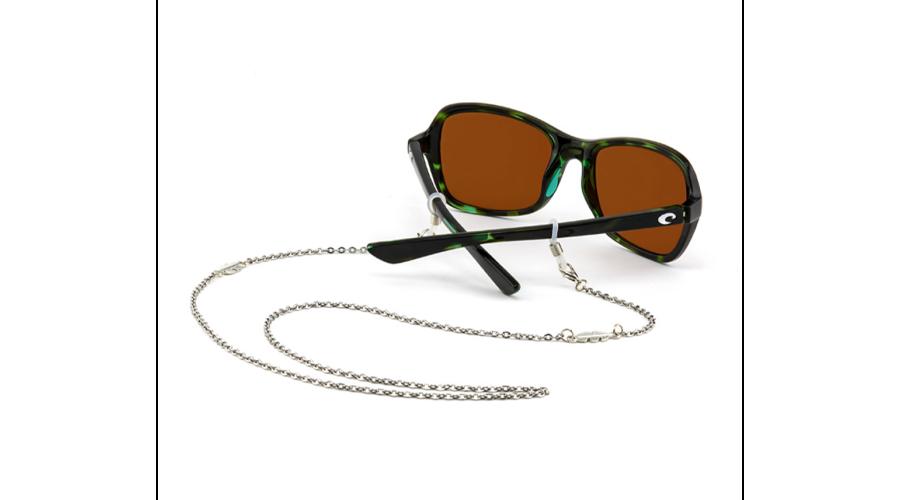 Croakies: Fashion Chain Silver Leaf Spec End