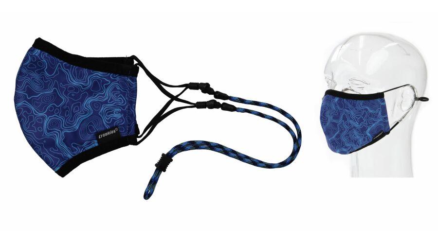 Croakies Mask Happy Trails Terra System Combo Reg/Xl