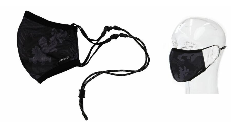 Croakies Mask Retro Camo Terra System Combo Reg/Xl