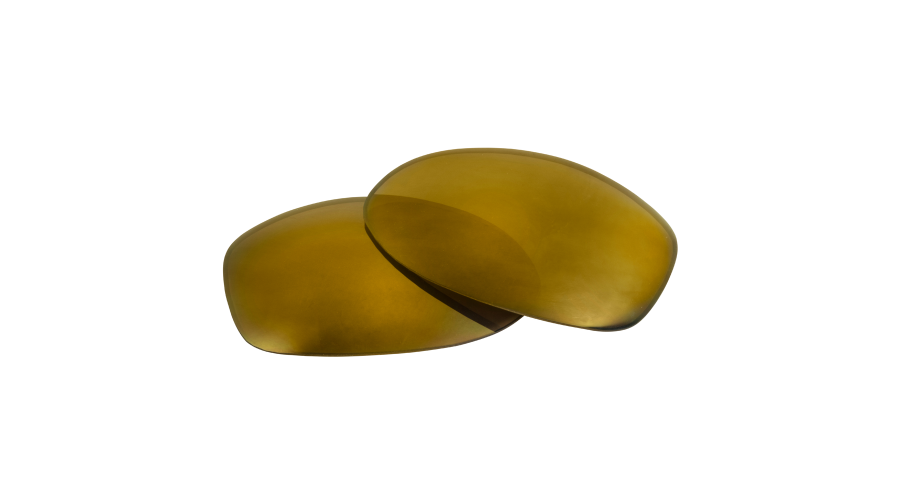 EDGED 8 BASE PC/POL LENS:SPRINT JR. BROWN W/GOLD MIRROR 1PR