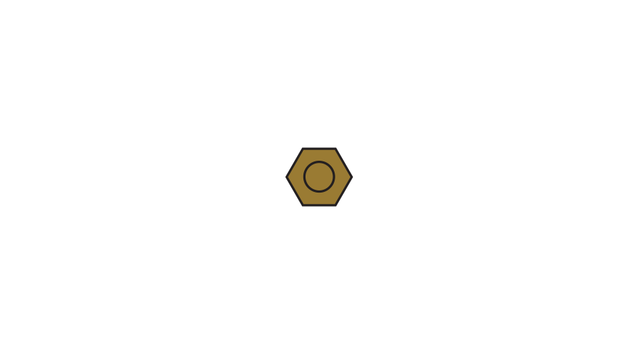 HEXNUT:GLD-250 REPLACES 254229000