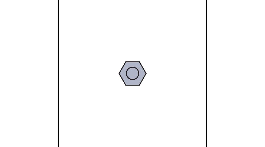 HEXNUT:STAINLESS,SIL-250