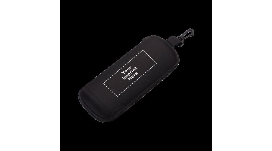 IMP CASE SAFETY SEMI-HARD XL NYLON ZIP/SNAP HOOK BLK (OUT)