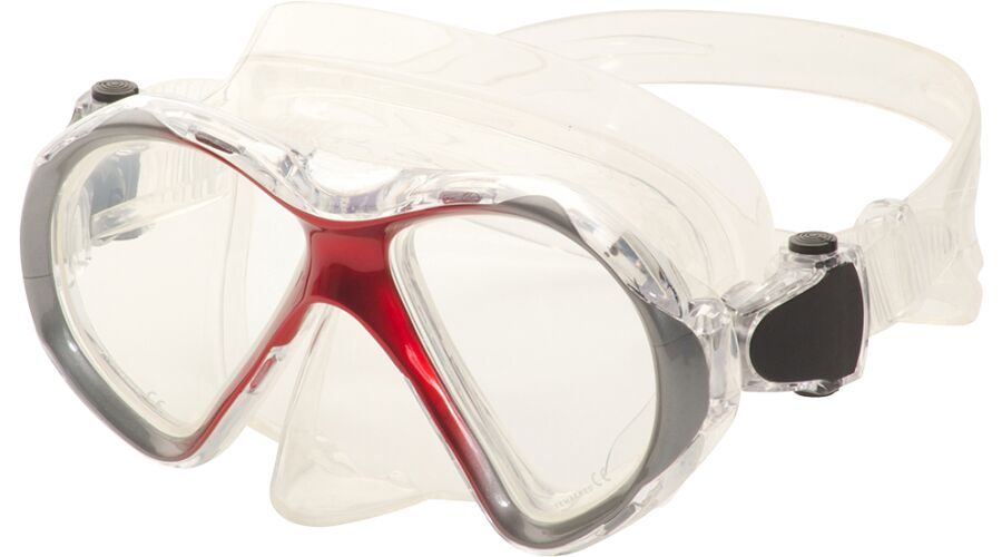 JUNIOR DIVE MASK, SPHERICAL RX RED, PLANO