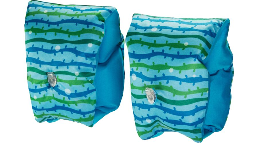 KID'S FABRIC COVERED ARM BANDS - BLUE WAVE