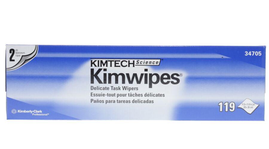 "KIMWIPES 11.8""X11.8"" 2 PLY WIPING TISSUES 119 SHEETS / BOX"