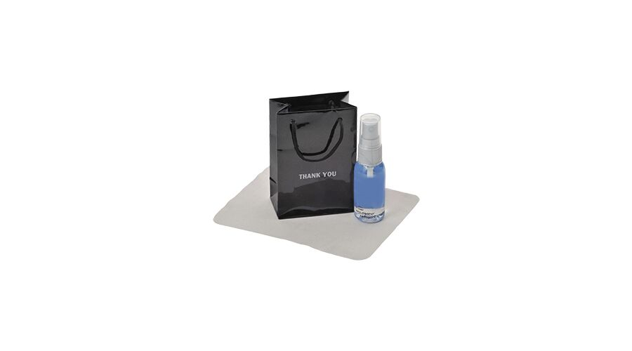 LENSCARE KIT: BLACK THANK YOU,1OZ CLEAR W/GRY PUMP,CLASSIC 4