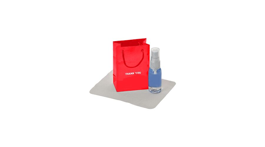 LENSCARE KIT: RED THANK YOU,1OZ CLEAR W/GRY PUMP,CLASSIC 4X6