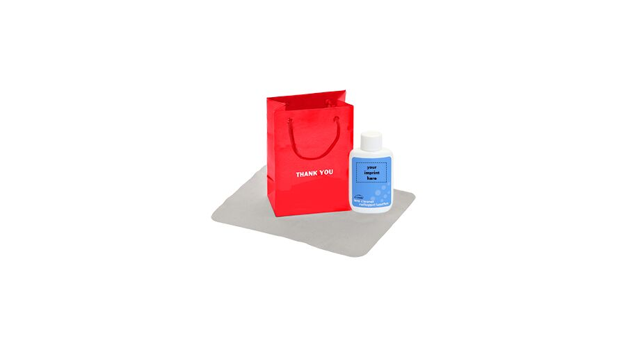 LENSCARE KIT: RED THANK YOU,1OZ OVAL SQZ,CLASSIC 4X6, PLAT,I