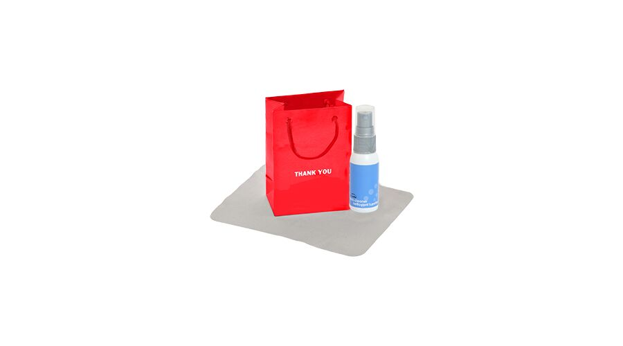 LENSCARE KIT: RED THANK YOU,1OZ WHITE W/GRY PUMP,CLASSIC 4X6