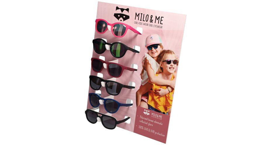 Milo & Me 6-Place Sunglass Display W/sunglasses